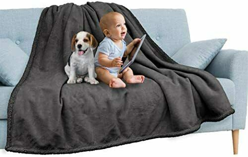 Waterproof Pet Blanket Throw Dark Grey for Dog Couch Protection 60x80 inches $61.15