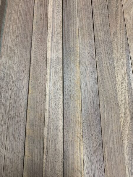 "Beautiful 12 Boards Of Black Walnut Lumber Dried Size: 3 4""x 2""x 16"" DIY Wood $34.15"