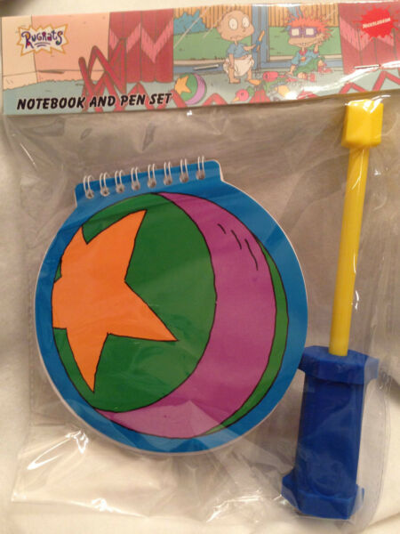 Nickelodeon Nick Box Spring Rugrats Notebook Pen Stationary Set Tommys 2018 New $11.05