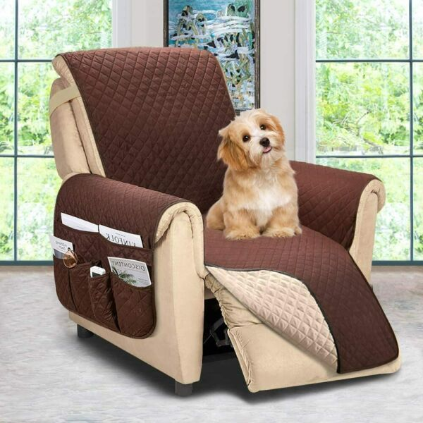 Recliner Chair Cover with side pockets Sofa Couch Covers Slipcover for Dogs Larg $34.71