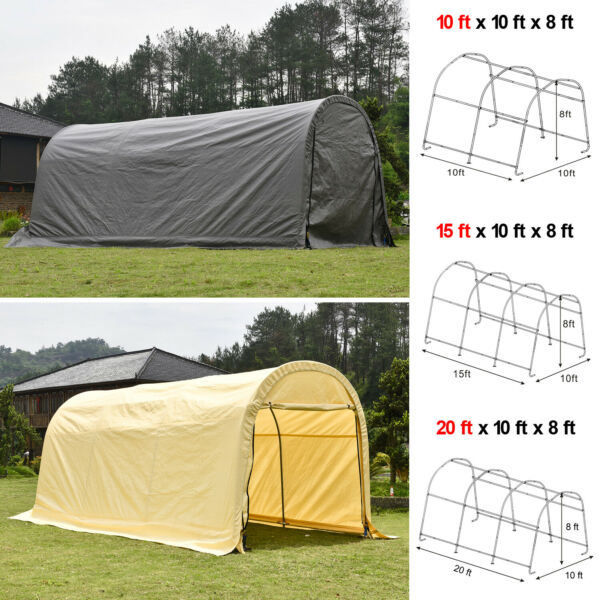 Outdoor Canopy Carport Tent Car Shelter Storage Shed UV Proof Tarp Garage Yard