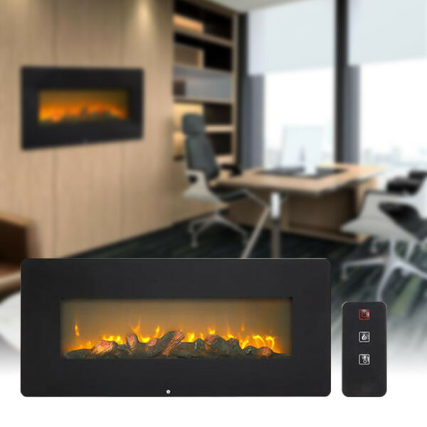 1400W Wall Hanging Fireplace Fake Wood Heating Wire With Small Remote Control $169.99