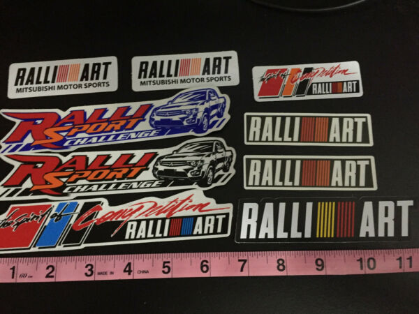 Ralli Art racing stickers decals