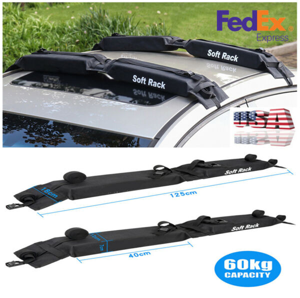 2pcs Foldable Oxford Universal Car Roof Carrier Rack Luggage Storage Load 60kgs $54.89