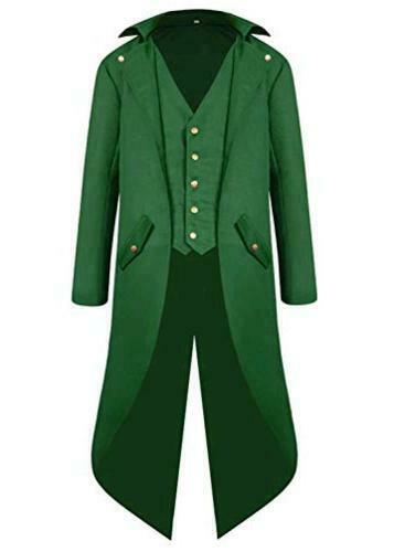 SIAEAMRG Renaissance Steampunk Tailcoat Halloween Costumes for Green Size 1.0 $10.15