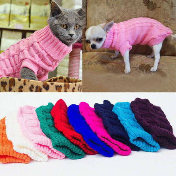 Winter Dog Clothes Puppy Pet Cat Sweater Jacket Coat For Small Dogs Chihuahua $6.99