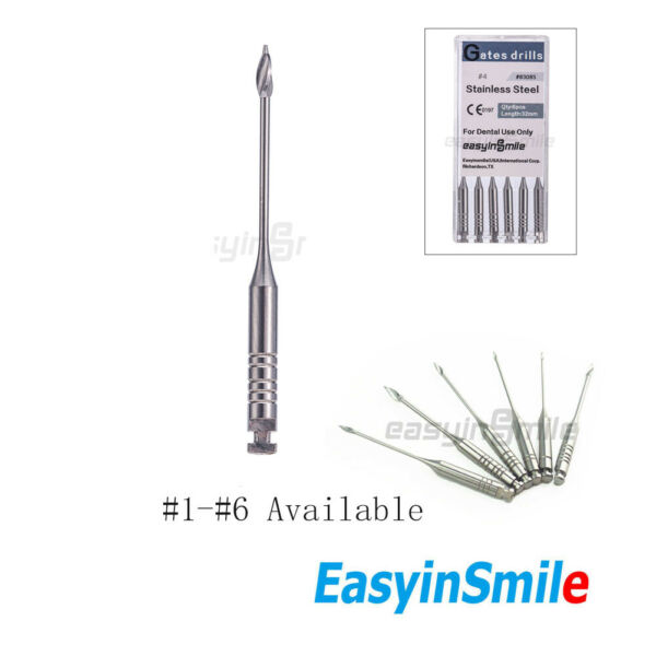 1x Dental Endodontic Root Canal Peeso Reamers Stainless Steel Gates Drills 1# 6#