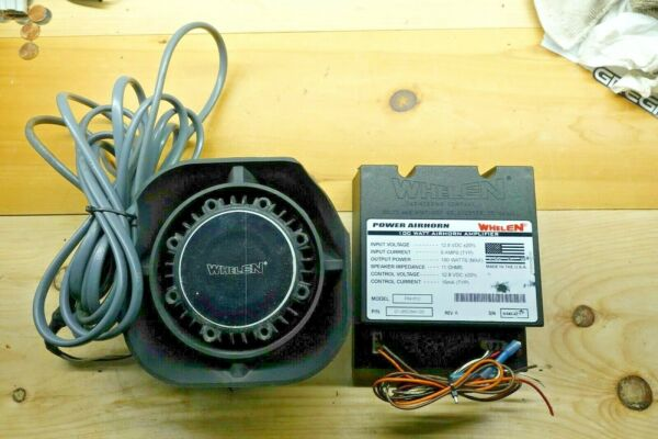 Whelen SA315P and Air Horn amplifier PAH112 *Made in USA*