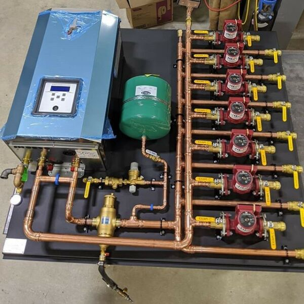 Radiant Hydronic Boiler Heating Zones Completely Pre Fabbed $3465.00