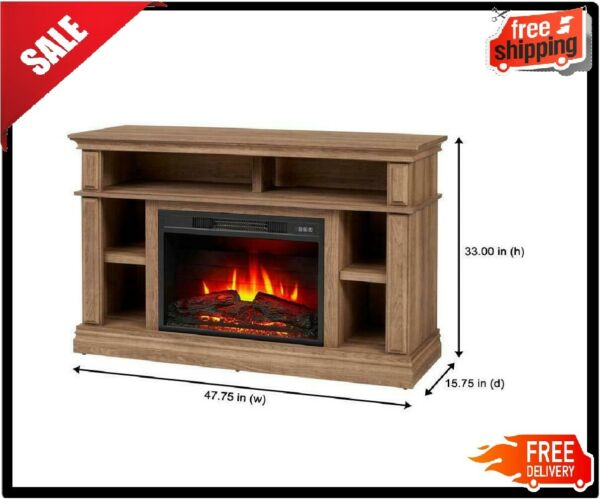 Electric Fireplace Tv Stand Console Entertainment Centers 58 inch Media Storage
