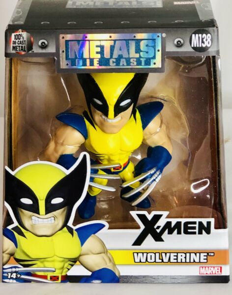Jada Toys Marvel Comics Metals Die Cast X Men WOLVERINE 4quot; Figure M138