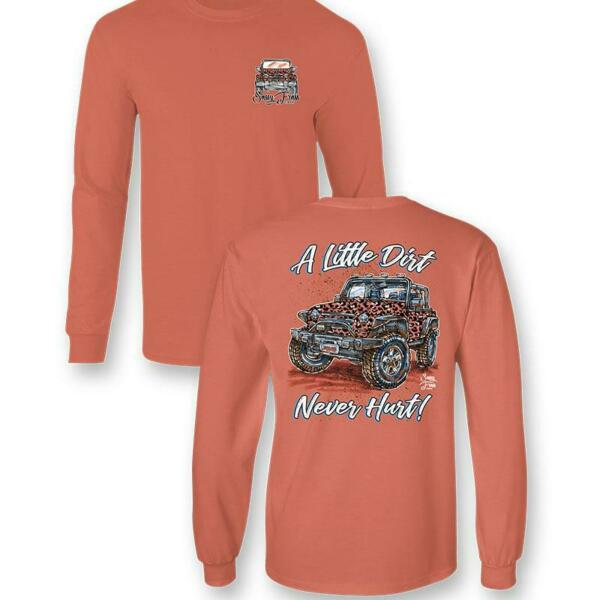 Sassy Frass Little Dirt Never Hurt Jeep Comfort Colors Long Sleeve T Shirt