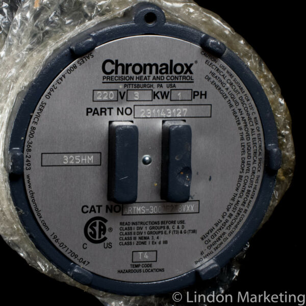 Chromalox ARMTS Process Water Screw Plug Immersion Heater NOS $224.95