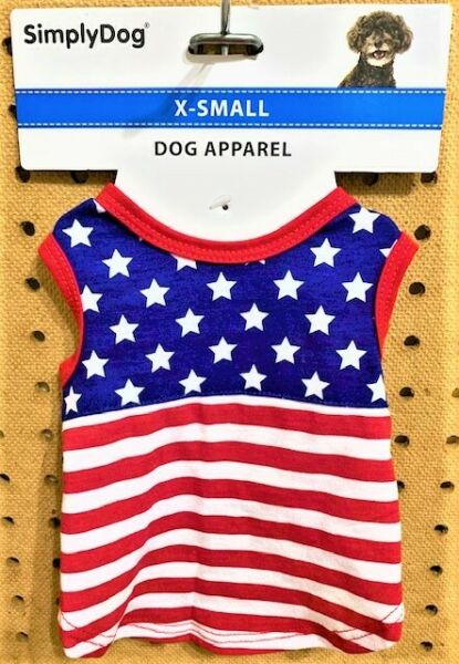 SIMPLYDOG PATRIOTIC Dog Puppy Stars amp; Stripes Tank Top Muscle Shirt Size XS $6.99