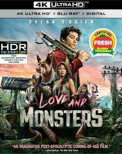 Love and Monsters New 4K UHD Blu ray 4K Mastering Digital Theater System S $26.53