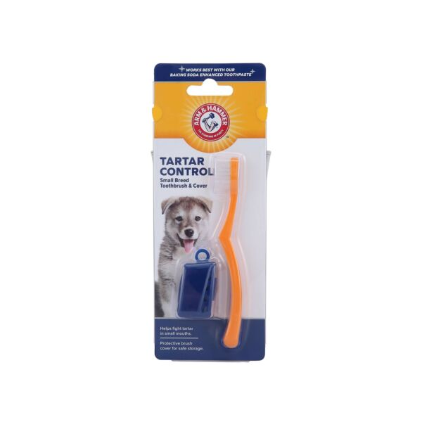 Arm amp; Hammer Dog Dental Care Toothbrush amp; Cover for Small Dogs Best Toothbr... $2.66
