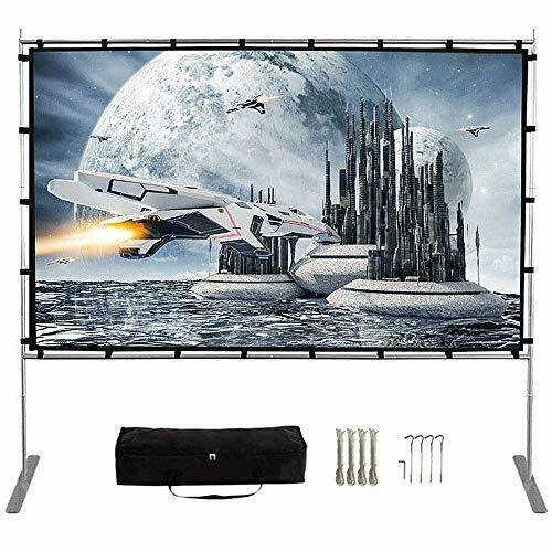 Projector Screen with Stand120 Inch 169 HD 4K Outdoor Indoor Portable Project...