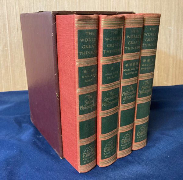 1947 Book Set of 4 The World#x27;s Great Thinkers Philosophers Aristotle Plato