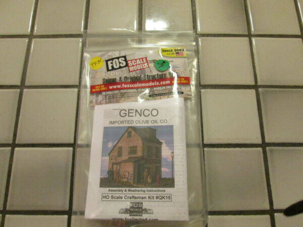 FOS SCALE MODELS GENCO IMPORTED OLIVE OIL CO. WOOD KIT HO SCALE $46.90