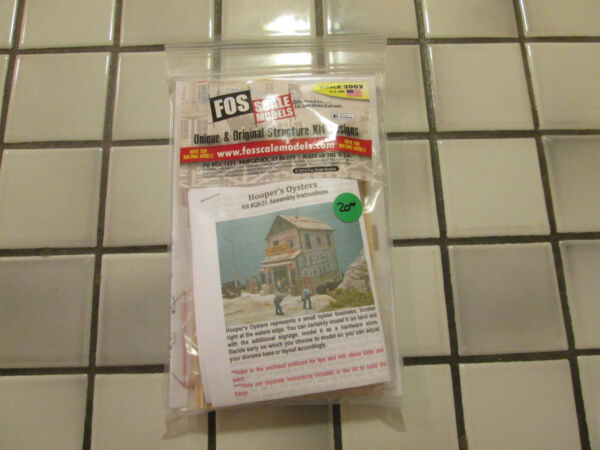 FOS SCALE MODELS HOOPER#x27;S OYSTERS WOOD KIT HO SCALE $46.90