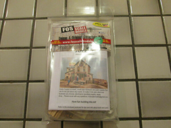 FOS SCALE MODELS CARTER SUPPLY WOOD KIT HO SCALE $46.90