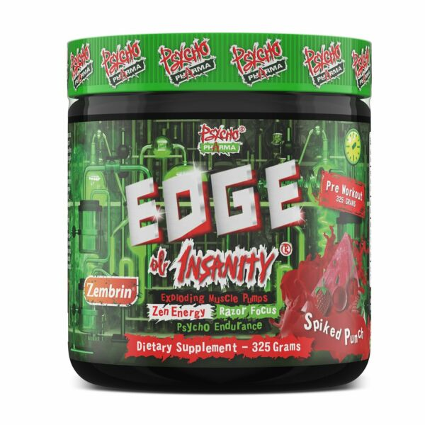 EDGE OF INSANITY PREWORKOUT 25 SERVINGS PSYCHO PHARMA Free Shipping $32.95