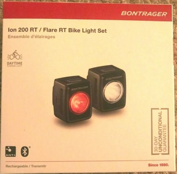 BONTRAGER Ion 200 RT Flare RT Bicycle Light Set $115 MSRP $99.95