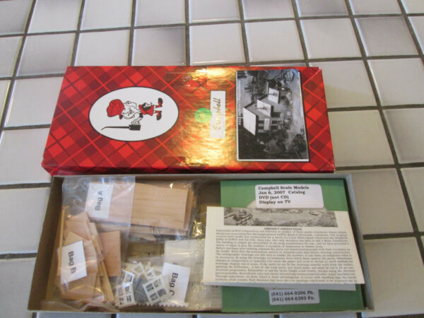 campbell models DeWITTS DEPOSITORY wood kit HO scale $48.90