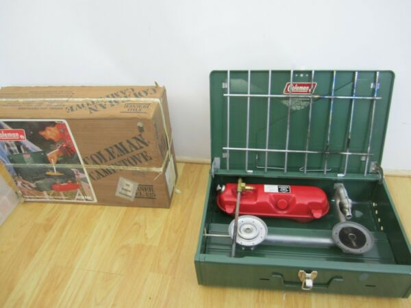 Coleman Stove 7425F499 Excellent Condition Used Once Vintage mfg 10 81