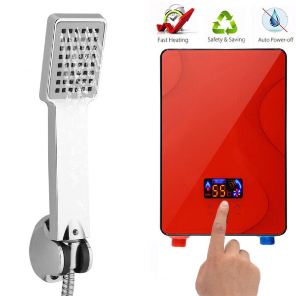 Instant Electric Tankless Hot Water Heater 3 seconds Heating Boiler Set 6500W $71.00