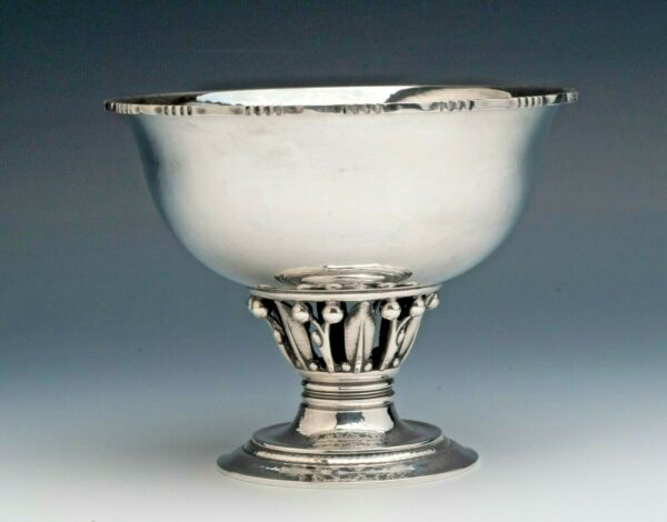 Georg Jensen Hand Wrought Sterling Silver Compote style Bowl quot;Louvrequot; 4.5quot;