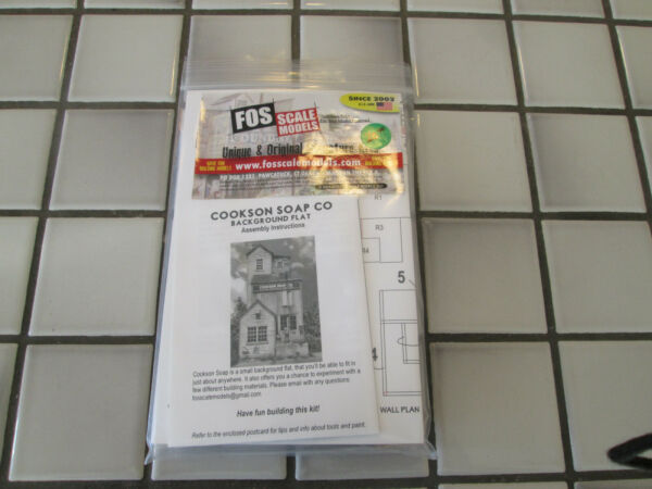 FOS SCALE MODELS COOKSON SOAP CO. WOOD KIT HO SCALE $42.90