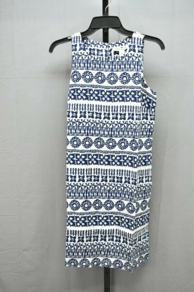 Tommy Bahama Tahiti Tango Linen Shift Dress Women#x27;s Size XS Navy White NEW $47.25