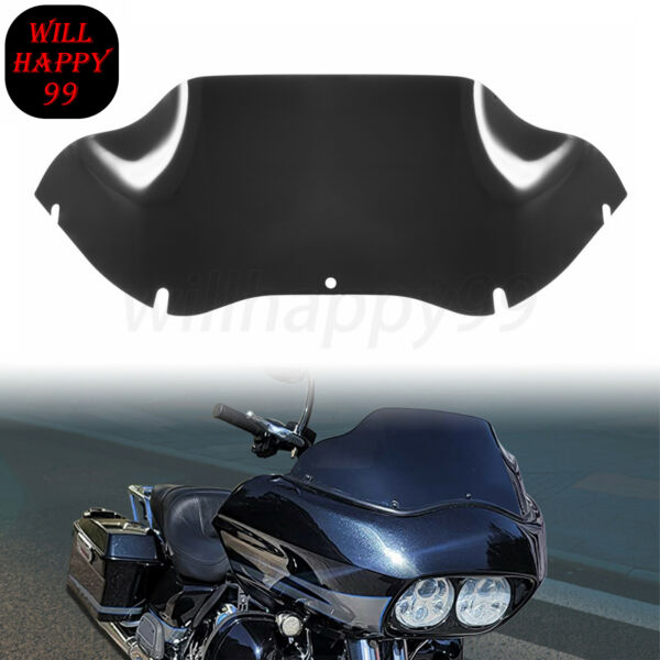 Black 9quot; Tint Windshield Windscreen Fit for Harley Touring Road Glide FLTR 98 13