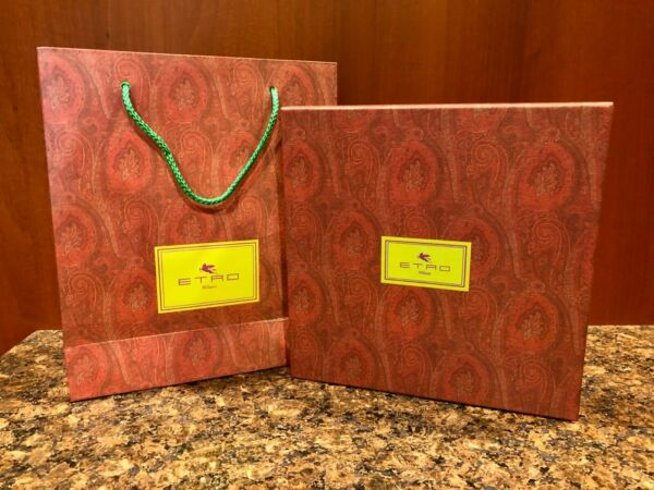 SET Etro Paisley Pattern GIFT Boxes and Cute Etro Bag $10.00