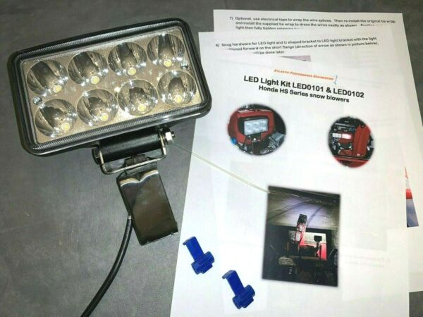 Honda Snowblower LED Premium Flood Light Kit 2400 Lumen HS1132 HS1332 HS828 928
