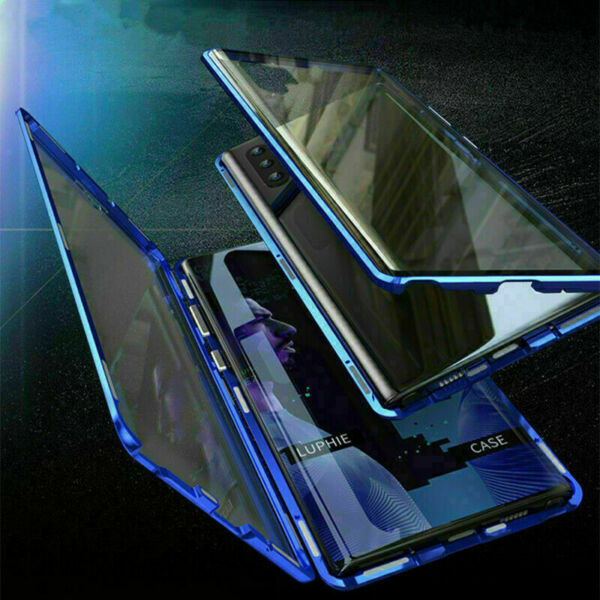 360° Magnetic Metal Cover Tempered Glass Case For Samsung Galaxy A71 A51 A31 A11
