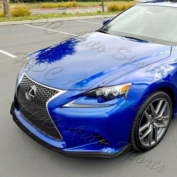 For 14 16 Lexus IS250 IS350 F Sport Carbon Look Front Bumper Body Spoiler Lip