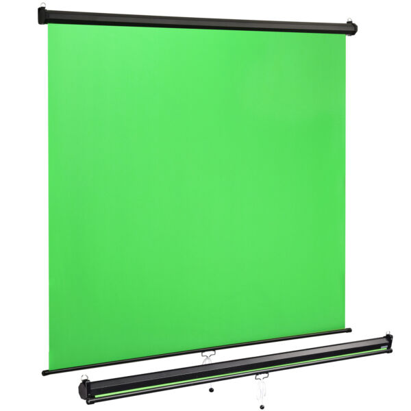 2 Pack Green Screens Retractable Wall Ceiling Mounted for Video Photo 73quot; x 82quot; $119.90