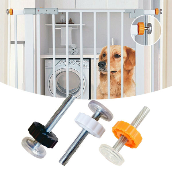 1Pcs Baby Pet Safety Stairs Gate Screws Bolts with Locking Nut Spare Kit