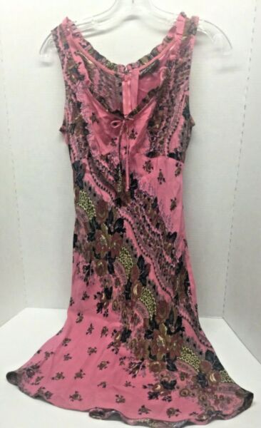 Vintage Betsey Johnson New York Dress Large L M Medium Rose Floral