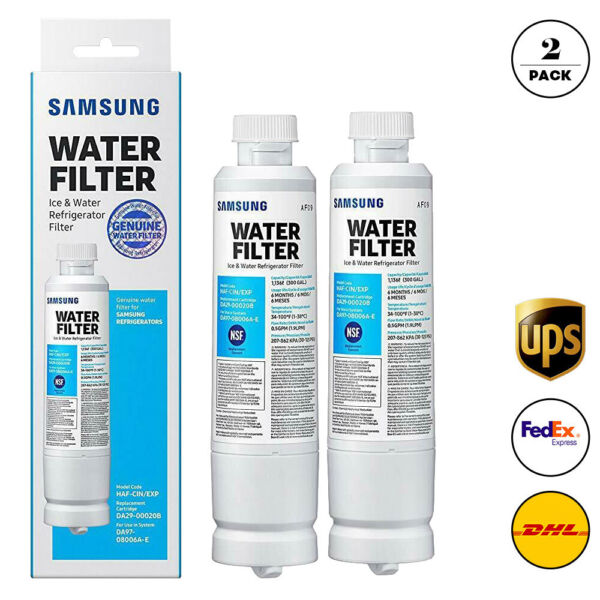 2Pack Samsung DA29 00020B HAF CIN EXP Refrigerator Fresh Water Filter Cartridge $28.99