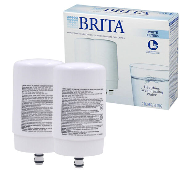 NEW Brita Tap Water Faucet Filter Replacement 2 Count White
