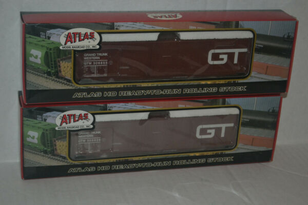 2 Atlas 1665 Grand Trunk Western GTW 60#x27; SD Auto Parts Box Car Ho Scale $49.99