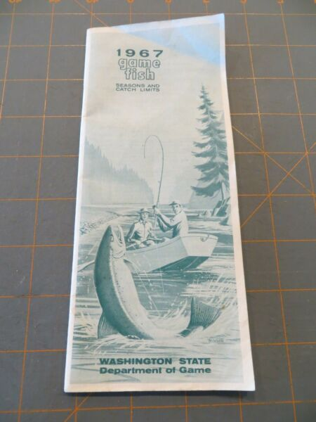 Vintage 1967 Washington Game Fish 40 Page Guide 3 1 4 x 8 inches $8.00