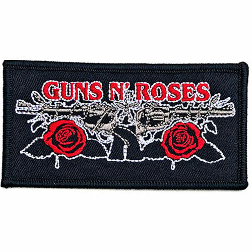 GUNS N ROSES VINTAGE PISTOLS WOVEN PATCH BRAND NEW MUSIC BAND GNRPAT08