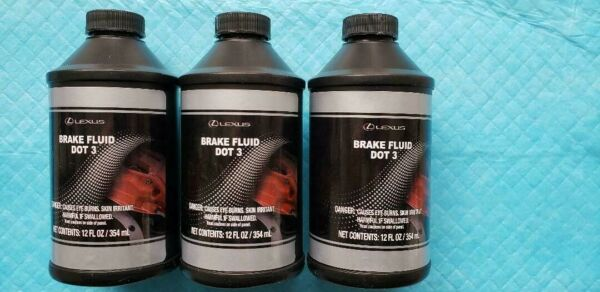 NEW Genuine Toyota Lexus OEM DOT 3 Brake Fluid. LOT OF 3