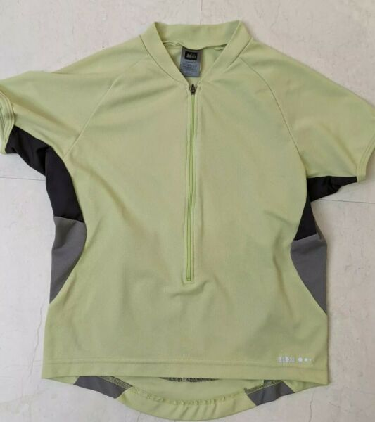 REI BIKE JERSEY WITH 2 POCKETS WOMENS SIZE SMALL EXCELLENT CONDITION $11.95