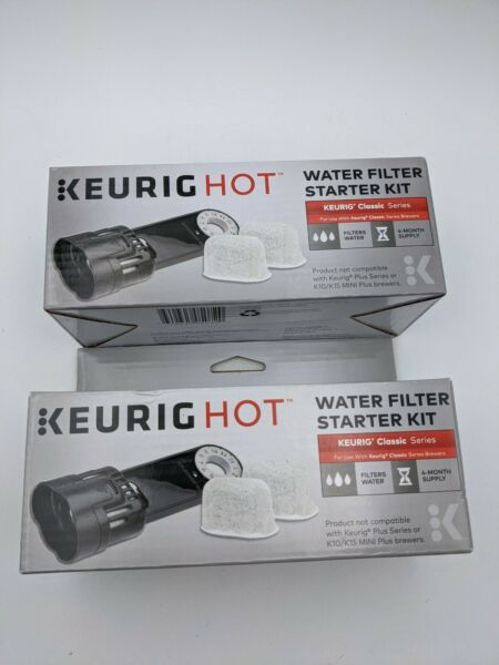 2 Keurig Hot Water Filter Starter Kit Classic Series Replacement Cartridges
