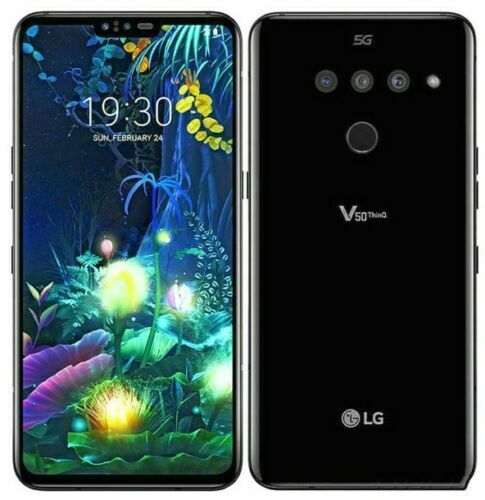 New LG V50 ThinQ 5G 128GB Aurora Black For Verizon Network